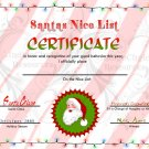 Letter from Santa And Nice List Certificate JPG
