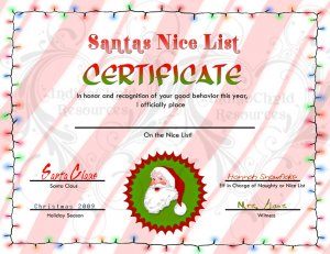 Letter from santa and nice list certificate jpg spiritdancerdesigns Image collections