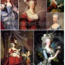 Marie Antoinette Digital Collage Sheets JPG Two Sheets