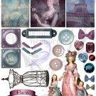 Shabby Chic French Digital Collage sheet JPG