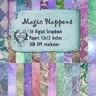 36 Magic Happens Digital Scrapbook Paper Pack