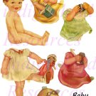 Baby Betsy Paper Doll Kit JPG 5 Sheets