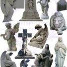Cemetery Digital Collage Sheet 1