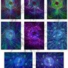 Swirling Vortex ATC Digital Collage Sheets JPG