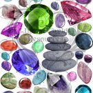 Stones, Rocks and Gems Digital Collage Sheet JPG