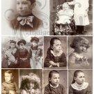 Vintage Skull Digital Collage Sheet JPG