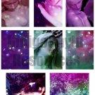 Bokeh Statue ATC Digital Collage Sheet JPG