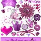 Princess Digital Collage Sheet JPG