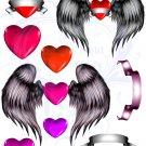 Stolen Hearts Digital Collage Sheet JPG