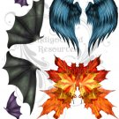 Various Mythical Wings Digital Collage Sheet JPG