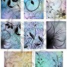 Elegant Swirl ATC Digital Collage Sheet
