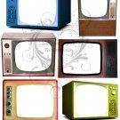 Television Digital Collage Sheet JPG