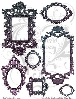 Ornate Shabby Chic Digital Collage Sheet JPG