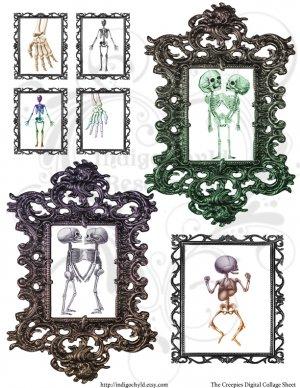 The Creepies Digital Collage Sheet JPG