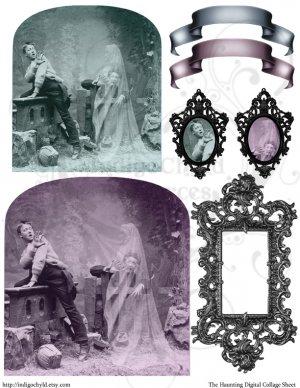 The Haunting Digital Collage Sheet JPG