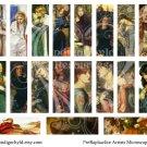 PreRaphaelite Microslide Digital Collage Sheet JPG