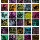 1.5 Vintage Halloween Tiles Digital Collage Sheet JPG