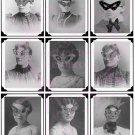 Masquerade Girls Digital Collage Sheet JPG