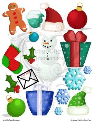 Christmas Goodies Digital Collage Sheet JPG