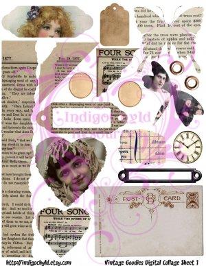 Vintage Goodies Digital Collage Sheet 1 JPG