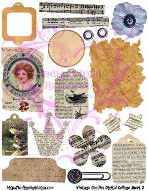 Vintage Goodies Digital Collage Sheet 2 JPG