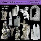 Cemetery Digital PNG Pack 2