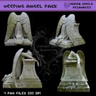 Weeping Angel Statue Digital PNG Pack