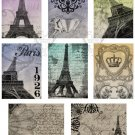 Paris ATC Base Digital Collage Sheet JPG
