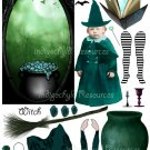 Altered Witch Digital Paper Doll Kit JPG