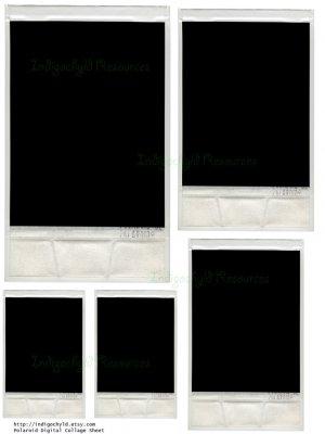 Polaroid Digital Collage Sheet JPG