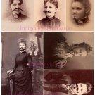 Bearded Ladies Digital Collage Sheet JPG
