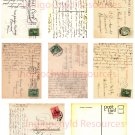 Vintage Postcard Writing Digital ATC Background Sheet JPG