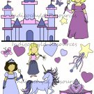 Princess Dolls Digital Collage Sheet JPG