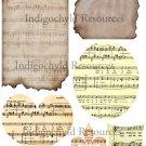Misc. Music Scrap Digital Collage Sheet JPG