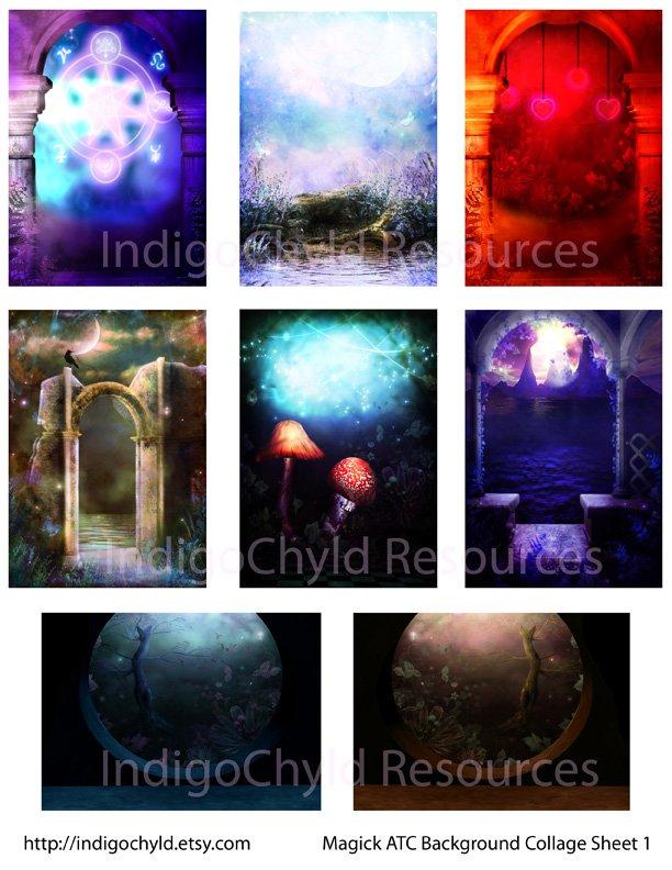 Magick ATC Digital Collage Sheet 1 JPG