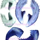 Seraphim Angel Wings Digital Collage Sheet JPG