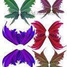 Summer Fairy Wings Digital Collage Sheet JPG