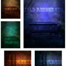 The Angel Tomb Background and Four ATC Base Digital Collage Sheet JPG