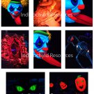 Halloween Carnival ATC Base Backgrounds JPG