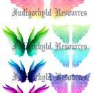 Rainbow Wings Digital Collage Sheet JPG