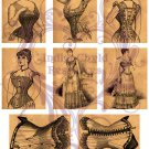 Victorian Illustrations ATC Base Digital Collage Sheet JPG