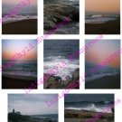 Beach Sunset ATC Digital Background Sheet JPG