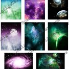 Cosmic Space ATC or ACEO 4 Digital Collage Sheet JPG