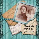 Post Card Vintage Memories Premade Digital Collage Sheet PNG