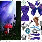 Fairy Paper Doll Kit Digital Collage Sheet JPG