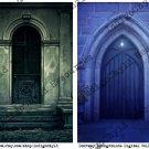 Doorway Backgrounds Digital Collage Sheet JPG