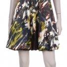 Olive tone bubble mini dress