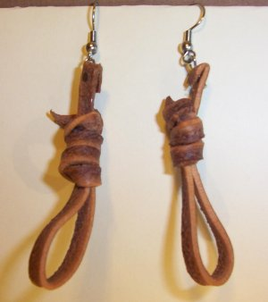 """2"""" DROP EARRING'S - STINKWEED - Hangman's Noose Jewelry from the Old West-FREE SHIPPING"""