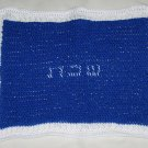 Blue & White Crocheted Challah Cover