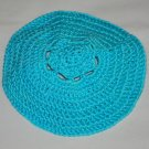 Crocheted Teal Kippah